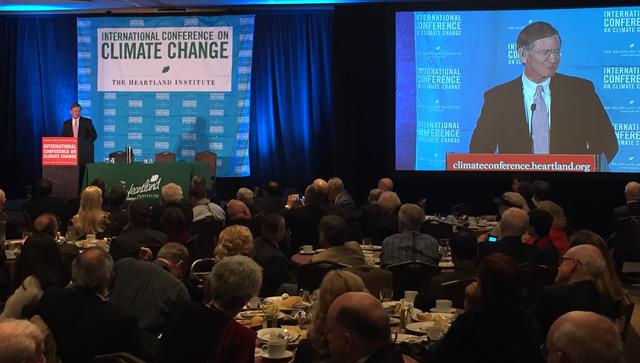 Senator Jim Inhofe talks climate change with international press